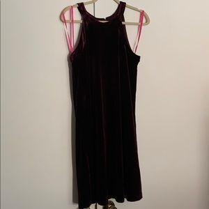 Betsey Johnson burgundy velvet dress